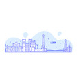 lisbon skyline portugal city buildings vector image vector image
