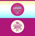 logo and children hair salon vector image vector image