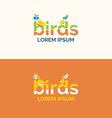Logo birds vector image
