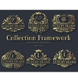 Luxury gold label collection design set vector image vector image