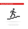 man stairs icon for web business finance and vector image vector image