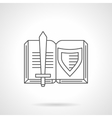 Medieval novel flat line icon vector image