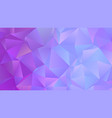 pastel cold colors low poly banner design vector image vector image