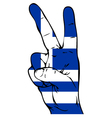 Peace sign of the flag of the Greece vector image vector image
