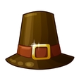 Pilgrim Hat isolated on white background vector image