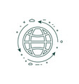 planet protection and sustainable living line icon vector image vector image