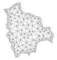 polygonal carcass mesh map of bolivia vector image