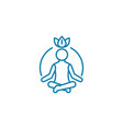 process of meditation linear icon concept process vector image vector image