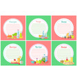 recipe food preparation and meal set banners set vector image vector image