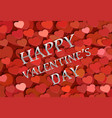 red heart symbol for greeting card happy valentine vector image vector image