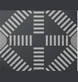 road intersection with crosswalk top view vector image
