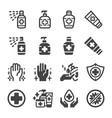 sanitizer icon set vector image vector image