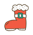 Santa boot vector image