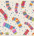 seamless christmas stocking pattern vector image vector image
