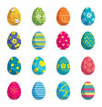 set easter eggs isolated background modern vector image vector image