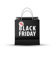 shopping paper black bag empty vector image vector image