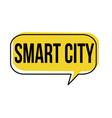 smart city speech bubble vector image vector image