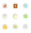 Spirituality icons set cartoon style vector image