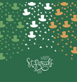 st patricks day background clover leafs and vector image vector image