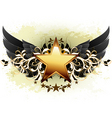 star with ornate elements vector image