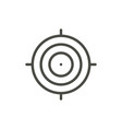 target icon outline focus line shot symbo vector image vector image