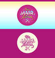The logo and the of children hair salon