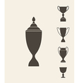 Trophies and cups Set vector image vector image