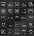 video games linear concept icons collection on vector image vector image