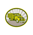 Vintage pick-up cargo truck vector image vector image