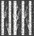 winter background with birch trees and snowflakes vector image vector image
