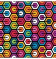 Colorful geometric pattern with hexagons vector image