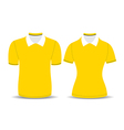 yellow polo shirt outline vector image