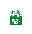 logo best time vector image