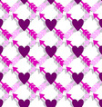 Seamless pattern with arrows and heart vector image