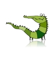 Funny crocodile for your design vector image