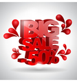 3D text Big sale vector image vector image