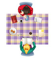 a top view of table vector image vector image