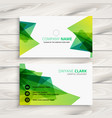 abstract green business card design vector image vector image