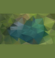 abstract irregular polygonal background green teal vector image vector image