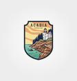 acadia national park logo sticker patch symbol vector image vector image