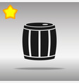 Barrel black icon button logo symbol
