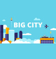 big city urban flat smart vector image