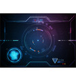 blue pink futuristic game interface technology vector image vector image