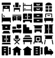 Building and Furniture Icons 9 vector image vector image