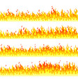 burning fire walls flat horizontal seamless vector image vector image