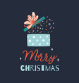 christmas gift box open box present cute hand vector image