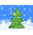 christmas tree 5 vector image vector image