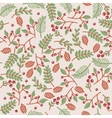 christmass seamless floral texture vector image