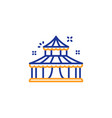 circus line icon amusement park sign vector image