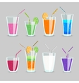 Cocktail and fruit juice drinks vector image vector image